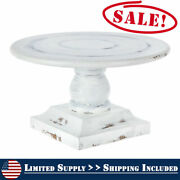 Farmhouse White Woodland Rustic Cake Stand Holder Pie Pastry Stand Shabby Chic