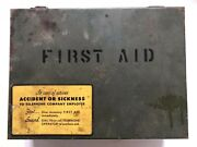 Vtg Bell System-c Telephone First Aid Kit Empty Metal Case Box Latch Water-tight