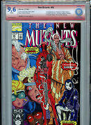 New Mutants 98 Vsp Cbcs 9.6 Check Nm+ Red Label Signed Rob Liefeld 1991 B9
