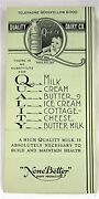 Vintage Quality Dairy None Better Dairy Products Green Order Form St Louis Mo