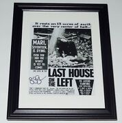 Sean S. Cunningham Autographed Photo Framed And Matted - Last House On The Left