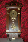 Watch Antique Vintage Wall Clock Hau 19th Century Work Properly Collector's Item