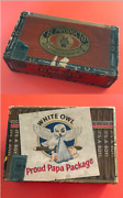 2 Vintage Cigar Boxes - White Owl And039itand039s A Boyand039 Proud Papa Box + El Producto