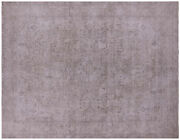 9and039 5 X 11and039 10 Handmade Vintage White Wash Rug - Q4653