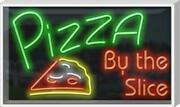 Outdoor Pizza By The Slice Neon Sign | Jantec | 37 X 22 | Wings Subs Italian