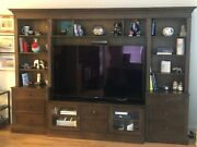 Ethan Allen Wagner Media Center/wall Unit Mocha Great Condition