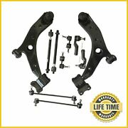 10x Suspension Kit Front Lower Control Arms Sway Bars Tie Rods For Mazda 3 5