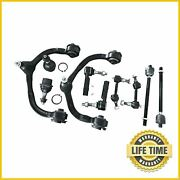 10x Front Upper Control Arms Tie Rod Sway Bar Set For Ford Expedition Navigator