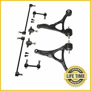 2x Front Lower Control Arm Ball Joint Sway Bar Link Kit For 2003-2011 Volvo Xc90