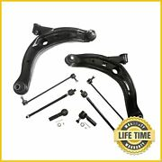 8x Suspension Kit Lower Control Arms Tie Rod Sway Bar For 2002-2006 Mazda Mpv