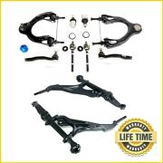 12x Front Lower Control Arms Tie Rods Sway Bar Links Kit For Acura Honda Civic
