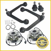 6x Control Arms W/ Ball Joints And Wheel Bearing Abs Assembly For Dodge Ram 1500