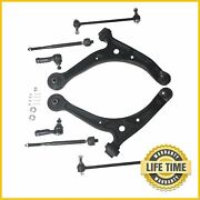 8x Suspension Control Arm Inner And Outer Tie Rods Kit For 2002-2004 Honda Odyssey