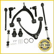10x Suspension Kit Front Upper Control Arms Tie Rods Set For Gmc Chevrolet Tahoe