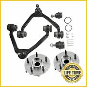 6x Suspension Kit Upper Control Arm Wheel Hub W/ Abs For Ford Expedition Lincoln