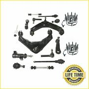 15x Suspension Kit W/ Wheel Hub Abs Assembly For Chevy Gmc Hummer 4wd 3-groove