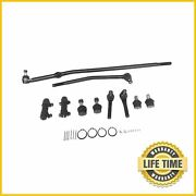 Front Suspension Kit Center Link Tie Rods For Ford E150 Econoline Club Wagon