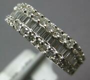 1.13ct Diamond 18kt White Gold 3d Round And Baguette Semi Hexagon Anniversary Ring