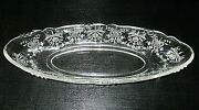 Heisey Depression Glass Orchid Etch Oval Celery Relish Dish