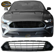 Fits 18-20 Ford Mustang Upper Grid Grille Grill Gloss Black - Abs