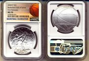 2020-p Basketball Hall Of Fame Silver 1 - Ngc Ms70 - First Releases In Stock