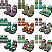 Animal Boho Aztec Car Seat Covers With Floor Mats Auto Frontandrear Carpet 6 Pack