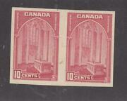 Canada 241a Vf-mxlh Imperf Pair 10cts Memorial Chamber Cv 750 Free Shipping