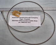 Grumman Aa-5 Cheetah Tiger Stainless Steel Control Cable Assy Pn. 5602107-512