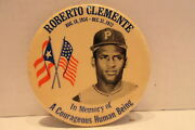 Roberto Clemente 1934-1972 A Courageous Human Being 4 Pin Back Button