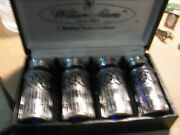 Towle Silver Co. 4-colbalt Blue Salt N Pepper Shakers By William Adams In Box