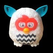 2013 Mcdonald's Happy Meal Furby Boom Toy 7 Laughing Furby White Black Zig Zag