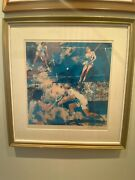 2 Leroy Neiman Signed Paintings/ Circa 1970andrsquos Mixed Doubles And Golf