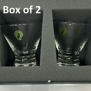 Waterford Crystal 114983 Happy Birthday Double Old Fashion Dessert Bowl 2 Pcs