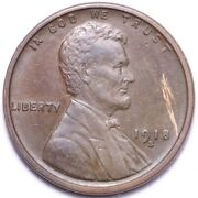 1918-s Lincoln Wheat Cent Penny Choice Au+/unc Free Shipping E729 Gcn