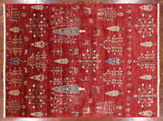 5' 1 X 6' 9 Willow And Cypress Tree Gabbeh Hand Knotted Area Rug - Q3090