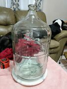 Vintage 5 Gallon 18.9 Liter Checked Glass Carboy Water Bottle Mexico