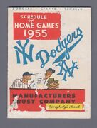 1955 Ny Yankees, Brooklyn Dodgers, Ny Giants Official Schedule