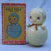 Vintage Early Prewar Celluloid Roly Poly Made In Japan