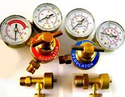 Jewelers Propane And Oxygen Regulators And Canister Valves - Smith Torch Type