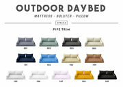 Style2 5pc Pipe Trim Outdoor Daybed Mattress Cushion Bolster Pillow Complete Set
