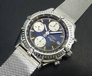 Genuine Accurate Breitling Chrono Mat A13048 Chronograph Black Dial Automatic