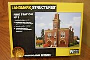 Woodland Scenics Landmark Structures Fire Station 3 N Scale Building Kit