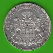 Hamburg 5 Mark 1888 Good Vz Nice Very Rarely Nswleipzig