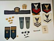 Wwii Us Navy Radioman Buttons, Badges And Bars Lot Of 34