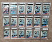 Hoard Lot 18 1985 Kirby Puckett Bgs Graded Rookie Cards 8 7.5 7 + From Vending