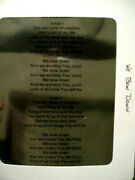 Overhead Projector Church Music Transparencies Approximately 80+