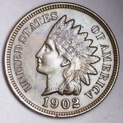 1902 Indian Head Small Cent Choice Unc Free Shipping E133 T