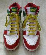 2012 Nike Dunk High 6.0 Rasta Sneakers Shoes 517562-173 Red Green Yellow Size 11