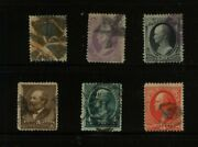 Us Lot Of Used 19th Century Stamps With 100 Grill 153 190 Ms0705