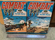2 Boxed 1960's Jaymar Combat Tv Show Paratroopers Beach Landing Military Puzzles